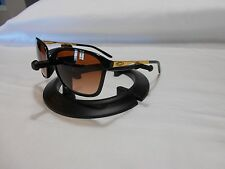 "Oakley Game Changer 009291-04 56-17 141 Blk Gold frames 5 1/8"" Amber Fade Lenses"