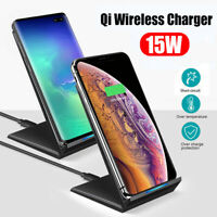 Qi Wireless Charger Stand 15W Fast Charging for iPhone X XS 8 XR Samsung S9 S10