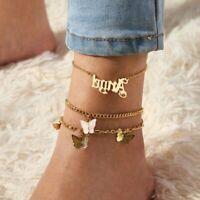 Angel Boho Butterfly 3pcs Bohemia Anklet Chain Bracelet Sandals Foot Beach Women