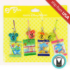 New Japan Tokyo Disney Resort Summer Splash Limited 4x Candy Mascot Charm Strap