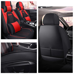 Deluxe 5-Seat Car Protector Covers Cushion 5D Surround Breathable with Headrests