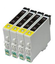 4 X CARTUCCE DI INCHIOSTRO NERO COMPATIBILE PER EPSON B1100 t0711h ora OFFICE inchiostro