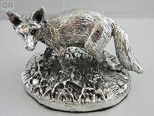 SUPERBE Hallmarked Sterling Silver Fox Statue