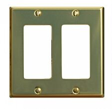 Switchplate Bright Solid Brass Double Gfi   Renovator's Supply