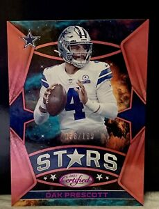 2021 Panini Certified Stars Pink Dak Prescott #CS-19 Cowboys *Sp 156/199
