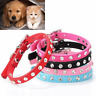 Pink Color 1 Row Rhinestone Dog Collar Crystal Pet Cat Collars For Chihuahua