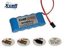 Empfängerakku X-Cell 6V1800 mAh flach , Stecker frei wählbar...