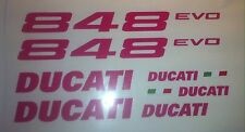 Ducati 848 evo Decal Set/Pink