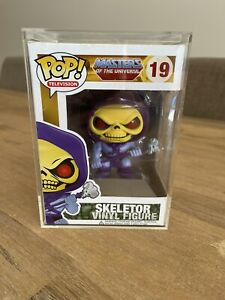 Funko Pop, Skeletor #19 MOTU, *RARE-VAULTED-GRAIL* OG Free Pop Protector NIB