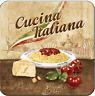 Nostalgicart Metalluntersetzer Cucina Italiana Pasta Tagliatelle 9 x 9