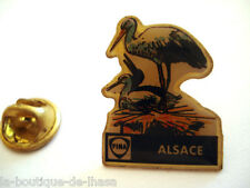 PINS CIGOGNE ALSACE FRANCE STATION SERVICE FINA ESSENCE