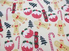 Ivory Pan Di Zenzero Uomo, Candy Cane, tessuto in policotone stampato Natale