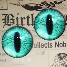 Glass Monster Eyes Realistic Turquoise Taxidermy Doll Eyeball 12mm Set
