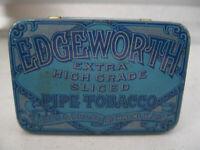 Antique TinTobacco Edgeworth Extra High Grade Plug Slice Hinged Lid
