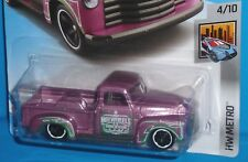 2017 HOT WHEELS '52 Chevy Pickup Pink #207/365 HW METRO 1952 50TH Card
