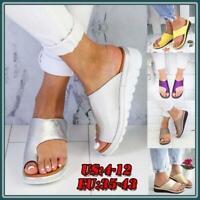 Womens Comfy Platform Sandal Ladies Shoes - PU LEATHER - Bunion Corrector