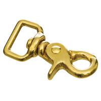 C-TY02 2 Pack 1//2X3 Inch Hilason Western Horse Solid Brass Bolt Swivel Snap Hook