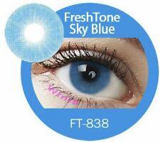 Freshtone SkyBlue - farbige Kontaktlinsen mit Aufbewahrungsbehälter (3-Monate)