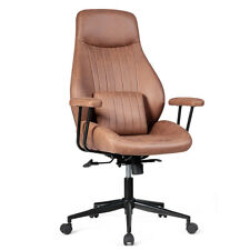 Ergonomic High Back Office Task Chair Adjustable Suede Fabric With Lumbar Support