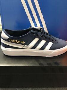 Adidas Trainers Skateboarding Delpala Premiere Navy Blue  Shoes SZ UK 8
