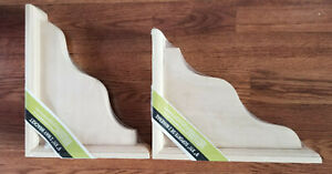 "WADDELL TWO WAY SHELF BRACKET KEYHOLE 9""X 2-1/4""X11"" BASSWOOD (LOT OF 2)"