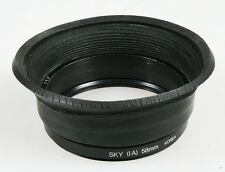 58MM RUBBER LENS HOOD W/SKYLIGHT 1A FILTERS