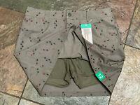 0421 EDDIE BAUER Size 12 Army Green Arrow Skort with Shorts Pockets NWT B