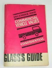 Old Glass'S GUIDE dei prezzi per i veicoli commerciali Dicembre 1968.