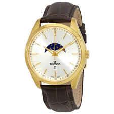 Edox Les Vauberts Moon Phase Silver Dial Men's Watch 79018 37J AID