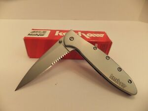 BRAND NEW KERSHAW 1660 LEEK STAINLESS STEEL WITH SPEEDSAFE