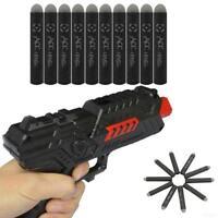 10pcs Glow Refill Bullet Darts 7.2cm EVA Toy Gun Bullets Black QA