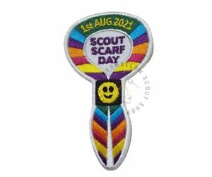 Scout Scarf Day 2021 Badge / Patch Scouts Girl Guides Camp Blanket