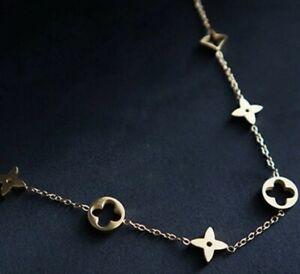 Damen Halskette Gold Edelstahl Modeschmuck Bestseller *