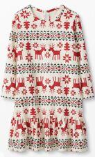 "NWT Hanna Andersson ""Dear Deer"" Reindeer Flannel PJ Nightgown Girls SZ 12"