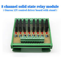(US) Eight Channels Solid-State Relay Module Control Panel Socket DC 12V NPN