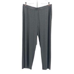 Women's Gray Eileen Fisher Grey Tencel Stretch Terry Pants sz XL