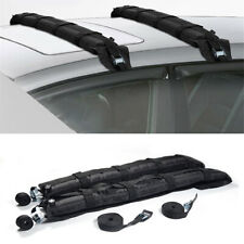 2x Car SUV Soft Roof Racks Self Inflatable Luggage Carrier 180LB Capacity Black