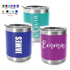 Personalized Coffee Tumbler Mug Engraved Tea Wine Cup Gift 10 oz