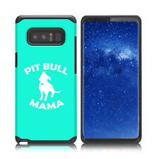 For Samsung Galaxy Note 8 Shockproof Hard Soft Bumper Case Cover Pit Bull Mama