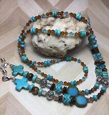 Handmade Gemstone Eyeglass/Necklace Chain /Lanyard W/Swarovski Elements USA