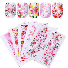 24 Sheets/Lot Floral Water Decals Rose Sakura Manicure Nail Art Stickers