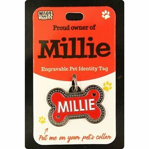 DESIRABLE GIFTS MILLIE PERSONALISED WAGS & WHISKERS DOG PET TAG NAMES CAN NOT BE