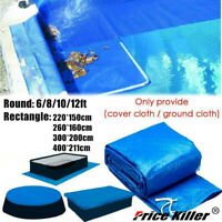 6-12Ft Round/Rectangle Swimming Paddling Pool Cover Inflatable Easy Fast Set G