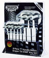 Draper Expert 83401 T Handled TX-Star Torx Allen Key Set Double End T9-T40 Rack