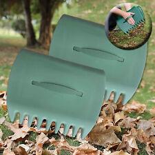 More details for 2 x garden leaf grabber hand rakes handheld grass leaves waste rubbish collector
