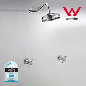Traditional Concealed Rain Shower Head Wall Mount Bath Tap Mixer Valve Combo NEW