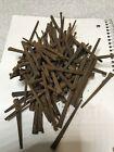 "100 Antique 3"" Steel Square Cut Head Nails Rusty Lot Original Vintage Spikes"