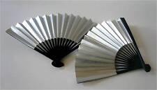 "Set of 2 Japanese 7"" L Silver Decorative SENSU Fan/Home & Decor/Small"