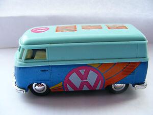 "V W   Camper  Blue  Van    Sign  Written   ""Is The Good Vehicle""  Mulit Coloured"