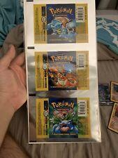Uncut Base Set Pokemon Card Booster Pack Foil Sheet Wrapper PERFECT CONDITION